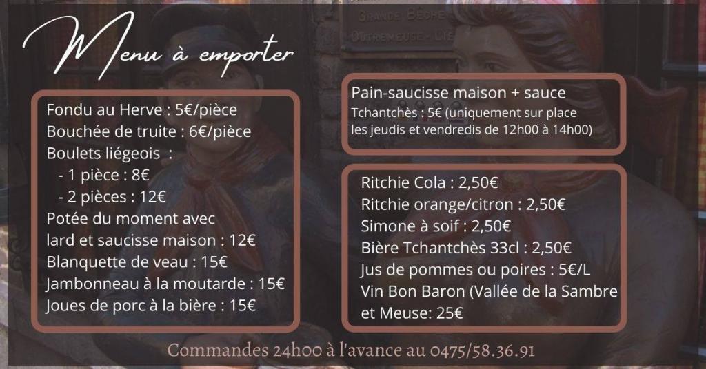 Taverne Tchantchès et Nanesse - plats à emporter